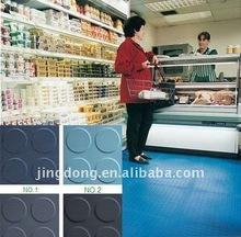 Black Rubber Studded Floor Tile