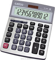 12 digits Big button solar calculator with check funtion