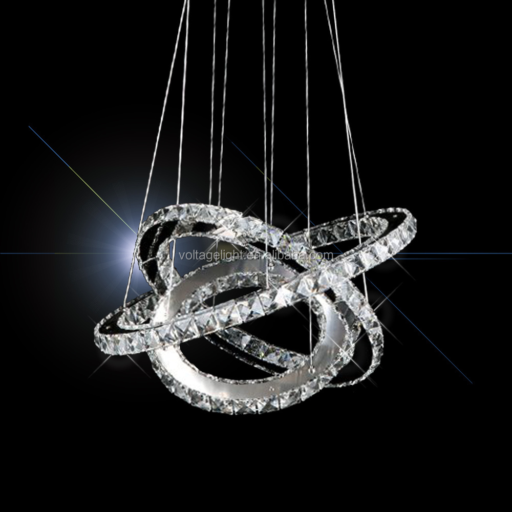 Hot Sell Modern Luxury Crystal Chandelier Led Round Circle