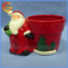 Festive christmas ornamental ceramic mini flower pots