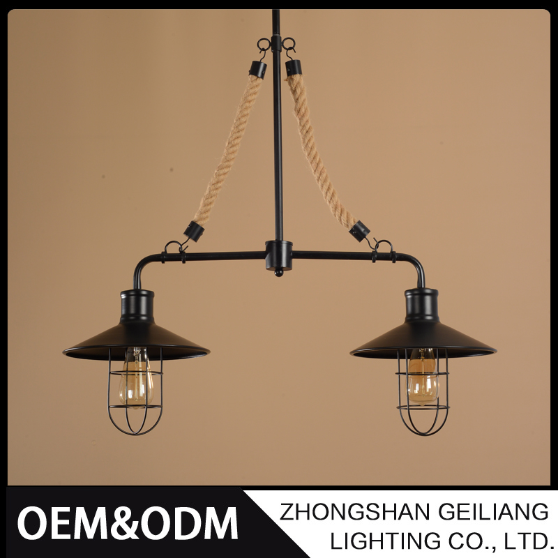 American creative hanging chandelier decorative industrial iron hanging