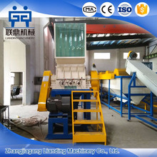 PP PE film crushing washing drying line / plastic recycling machine