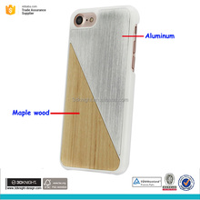 Wood and chroming aluminum mobile phone case back cover