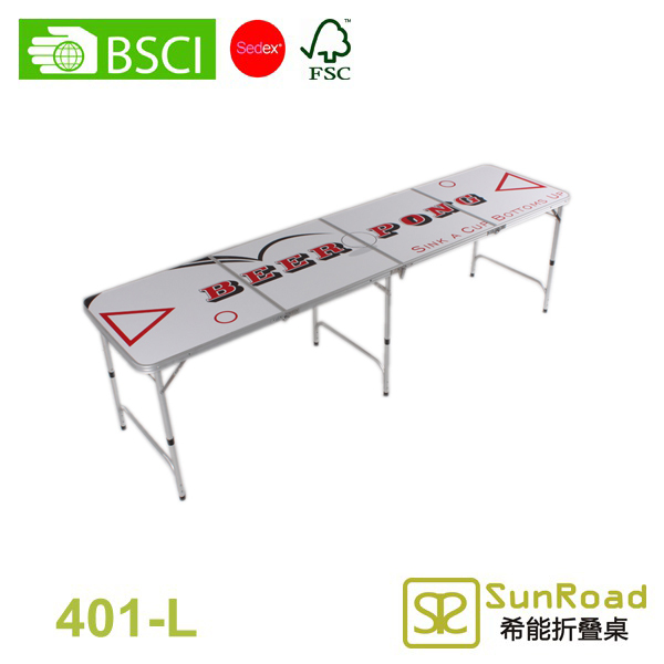 4 Sestions (2.4m 8') beer pong kit table