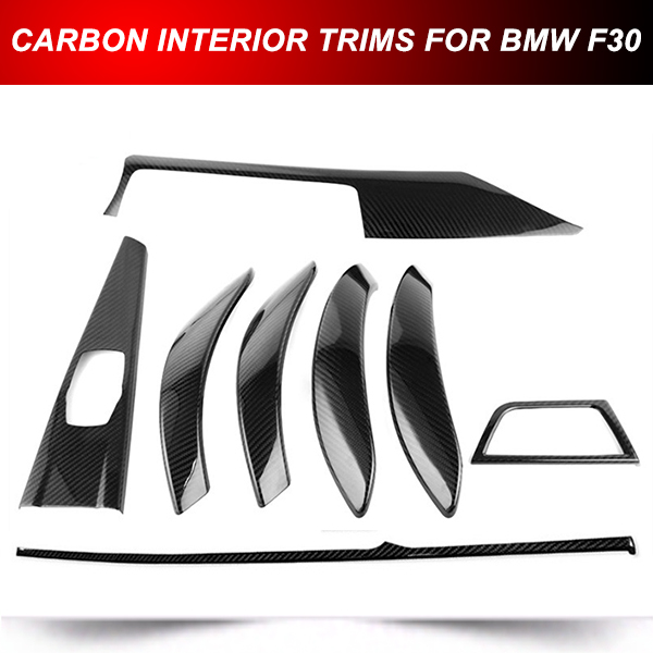 FOR BMW M Performance Carbon Fiber Interior Trim Kit 2013-2015 F30 328i 335i
