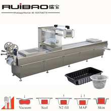 rigid modified atmosphere thermoforming vacuum packing machine for bread and sandwich