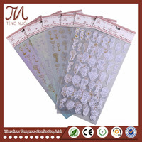 Free Sample Creative Custom Material Flower Decorative Sticker