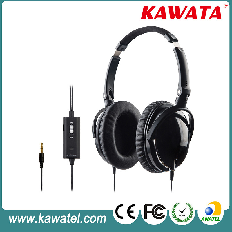2015 folding two way radio wired noise cancelling headphone headset