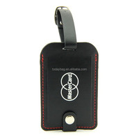 Christmas Free Giveaway PVC leather Luggage tag with cover