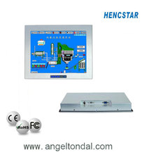17'' Embedded Industrial Monitor,fanless industrial embedded box PC