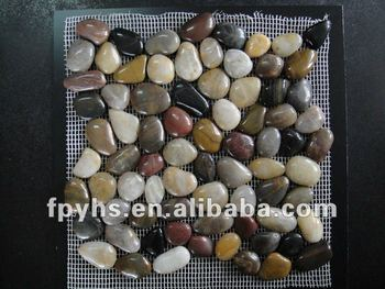 colored mesh paving pebble stone