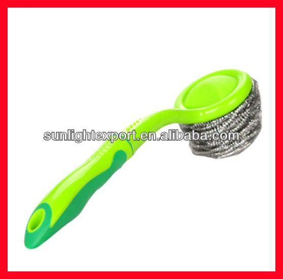 plastic hand SCRUBBER for dish