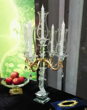 Weddings Use and Votive Holder Type candle holder 5 arms crystal candelabra