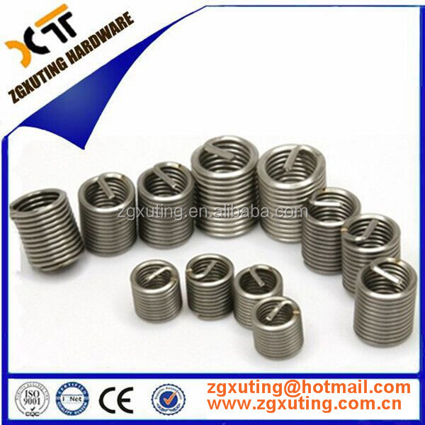 High-quality wire Thread insert repaired,size M2 M4 M5 M6 M8 <strong>M10</strong> <strong>M12</strong> M14 Stainless steel screw wire thread reducing inserts