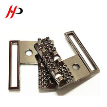 Wholesaler fashion garment accessories ladies two joint metal belt buckle for coat belts