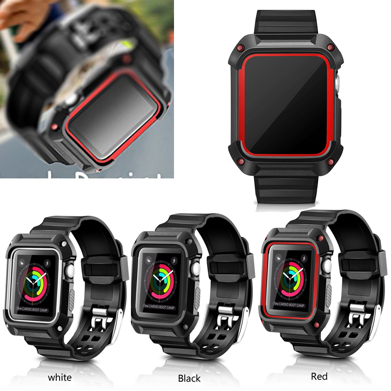 Black Soft Waterproof Sport Band for Apple Watch ,For Apple Watch Band With Case