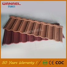 Korean Roof Tiles China Supplier Wanael Bond Stone Coated Roof Tile, Metal Gazebo Steel Roof