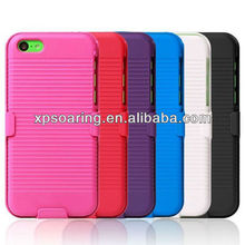 for iphone 5C stand hard faceplate case with clip