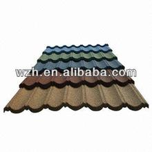 Stone Chip Clay GL Roof Tiles/Stone Coated Metal Roof Tile