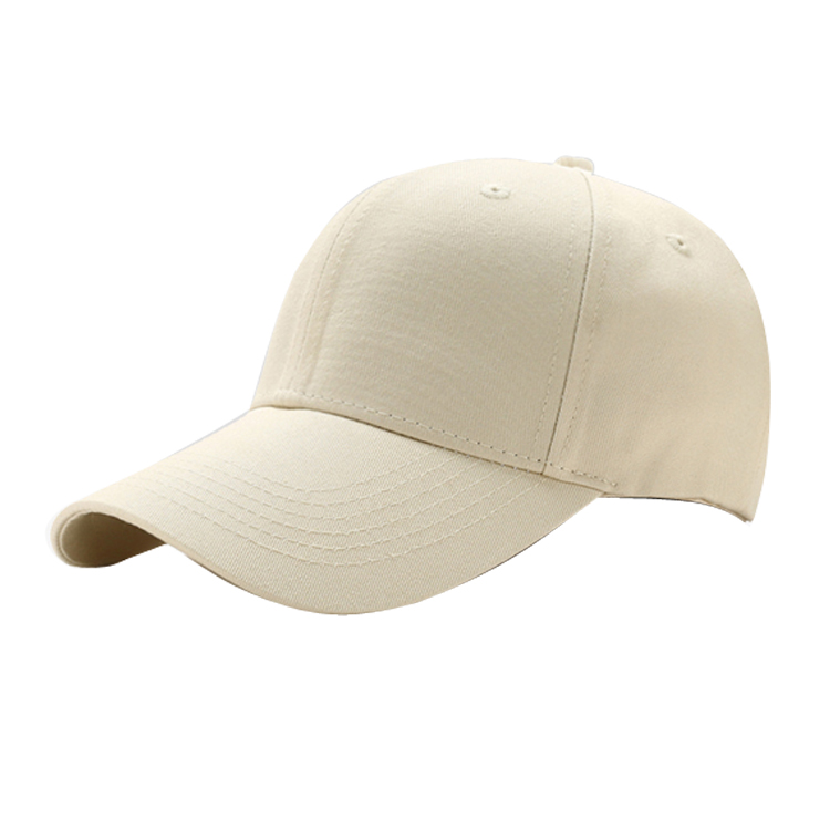 Wholesale custom plain structured front panel 6 panel blank cotton baseball <strong>hat</strong>