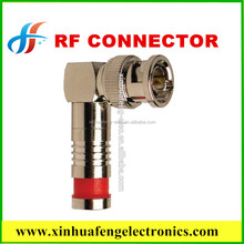 RG59 RG6 right angle BNC MALE Compression RF Connector