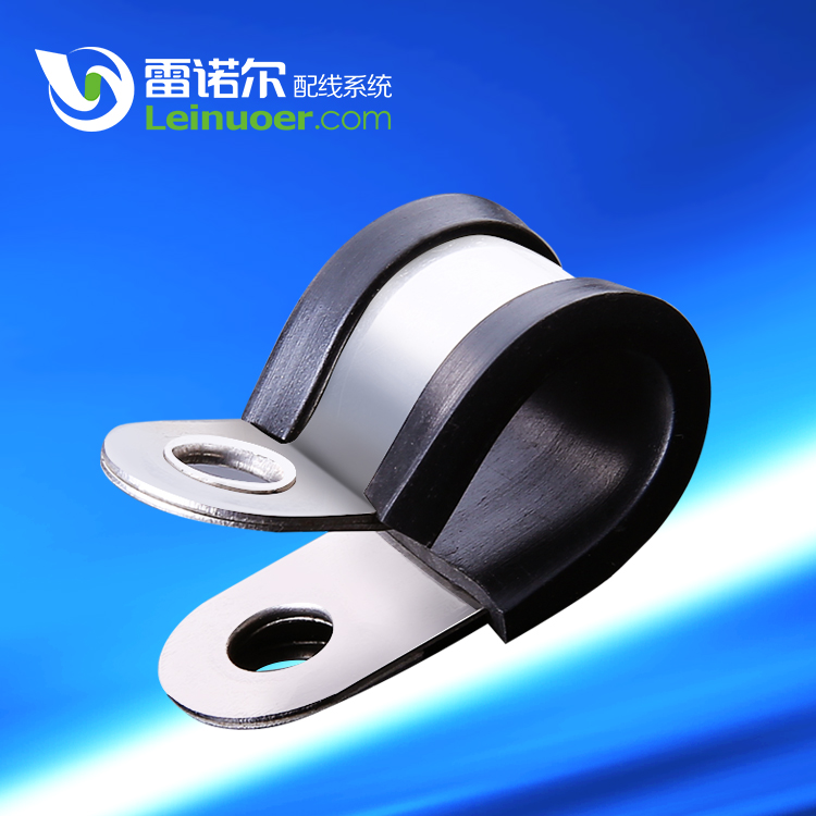 CHINA EPDN rubber fastening clip R stainless steel pipe clamp