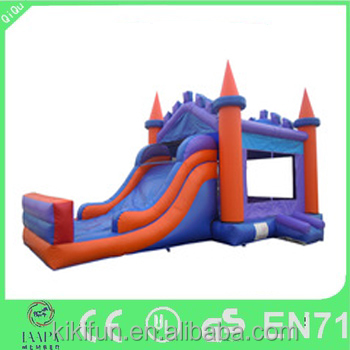 Christmas PVC inflatable bouncer slide combo, giant games commercial inflatable slide, indoor inflatable combo bouncers for kids