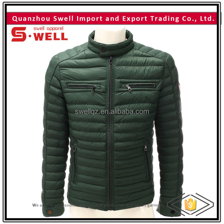 fashion style warming mens quilted jacket for sale