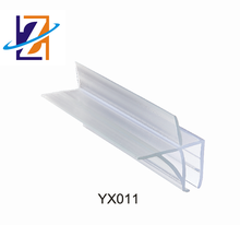 Anti-aging PVC rubber waterproof glass edge strip for fan-shaped glass door