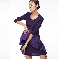 High quality boutique dress wholesale OEM original design Japan new style pleated dress