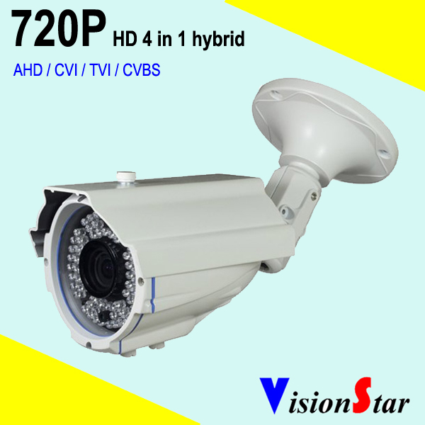 720P Security system outdoor using 1000tvl cctv hybrid Video surveillance camera 1.0mp
