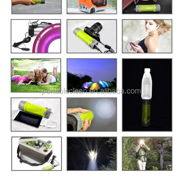 Outdoor LED Camouflage Torch Power Bank with SOS signal