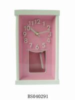 Customized Square 3D number Swing stand antique table clock for Promotion