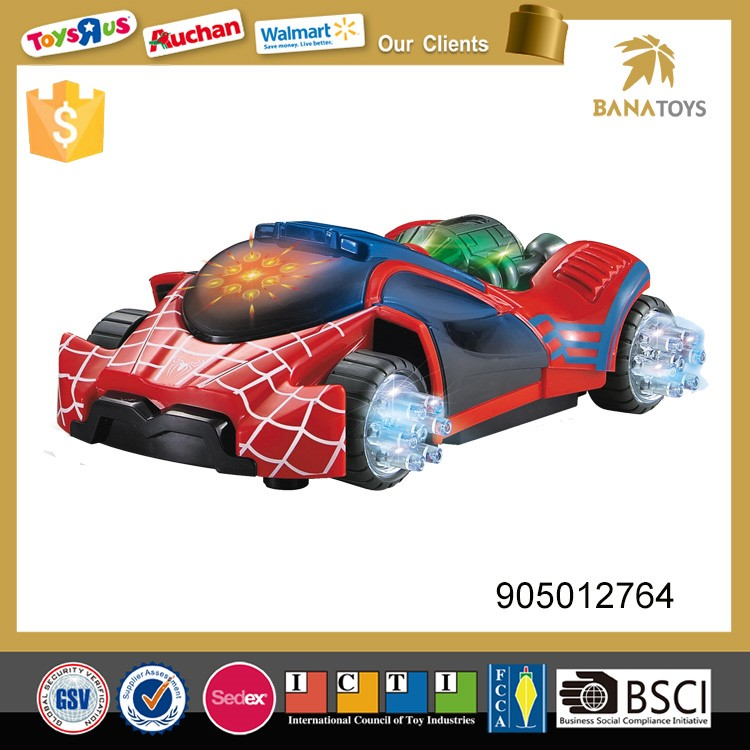 High quality electric car spiderman toys for kids