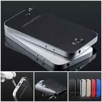 Ultra Thin Aluminum Frame Case + Battery Back Cover For Samsung Galaxy Note 2 N7100 note 3 4 s5 s6 Metal Hard Phone Cases Bag