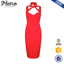2016 Ladies Wholesale Red Bodycon Fashion Sexy Collar Dresses