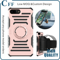 For iPhone 7 Case Sleeve 3 in 1 Detachable Running Armband Phone Case with Magnetic Car Phone Mount Case Cover for iPhone 5