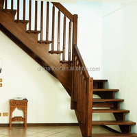 2016 New design wood stair step treads price