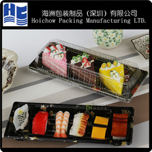 Wholesale custom APET PP PS PVC blister plastic box for sushi container tray box for sushi