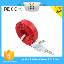 New Good Service Wholesale Flat aux audio cable 3.5mm speaker audio cable for cell phone car 3.5mm audio cable