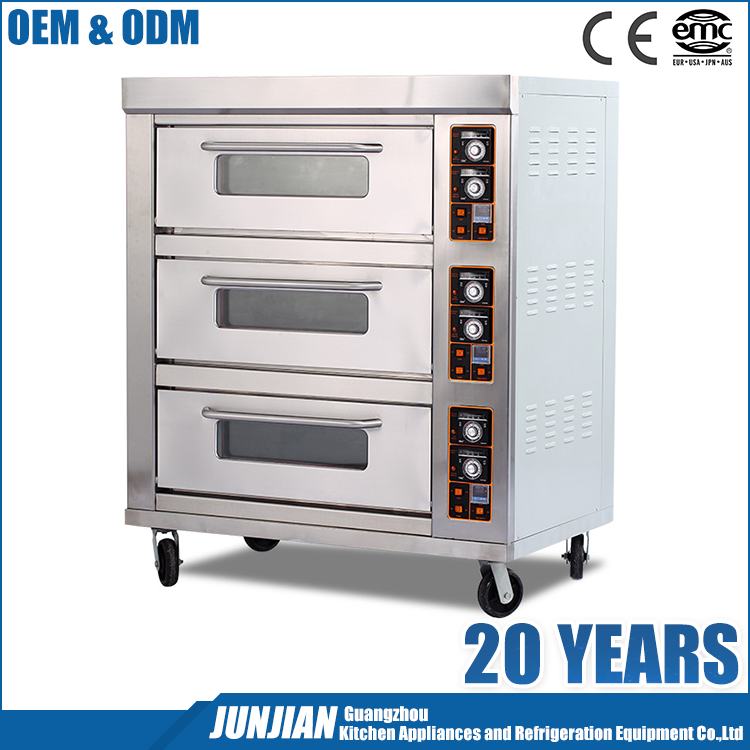 Guangzhou manufacture direct sale 380v bakery eletric oven bakery for sale with wheels