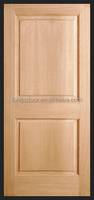 China popular 2 panel carved solid wood interior door design for hotel