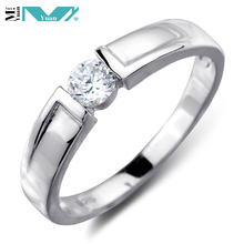 925 Sterling Silver Set Wedding Engagement Ring with Round CZ