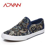 2015 Popular Brand Canvas Shoes Large Styles Men Flat Casual Shoes Wholesale Cheap Printed Canvas shoes for men In China