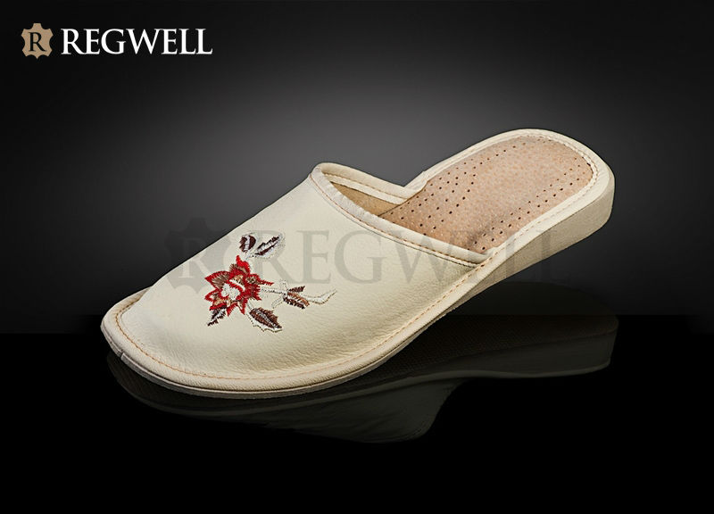 Leather shoes for women, slippers