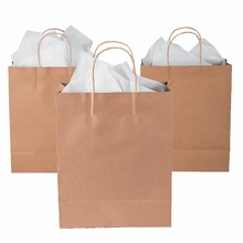Custom shopping made printed craft paper bag with led light