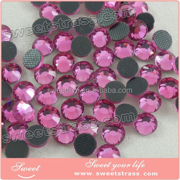 NO Defects! Super Shining Strong Glue wholesale DMC Hot Fix Rhinestone