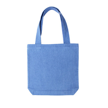 China Supplier Heavy Cotton Convention Reusable Denim Bag Denim Shopping Bag