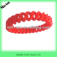 Soft Elastic Custom Color Silicon Twist Bracelet