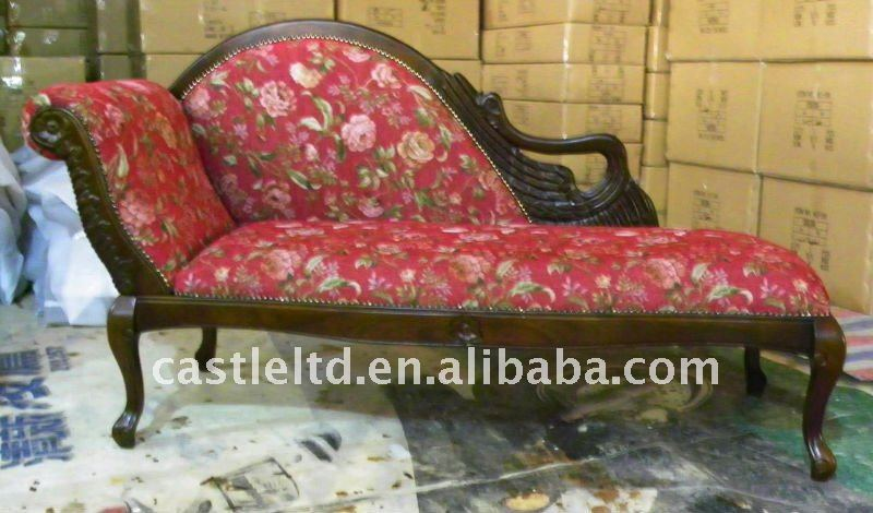 Carved wooden Swan Chaise